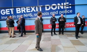 Get Brexit done poster at Tory conference