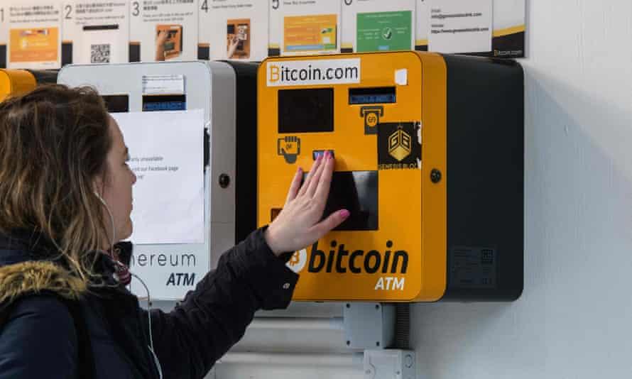 A bitcoin ATM in Hong Kong