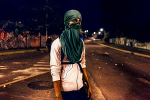 Portrait of a young boy shot during confrontations with police in the city of San Cristobal, Venezuela
