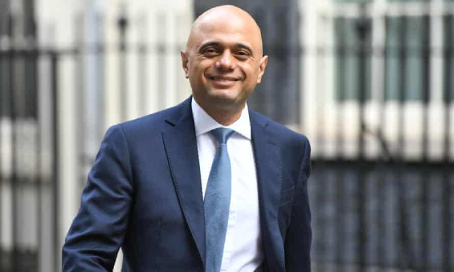 Sajid Javid en route to deliver the spending review