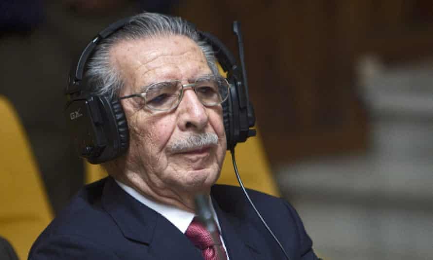 Efraín Ríos Montt, the former dictator of Guatemala
