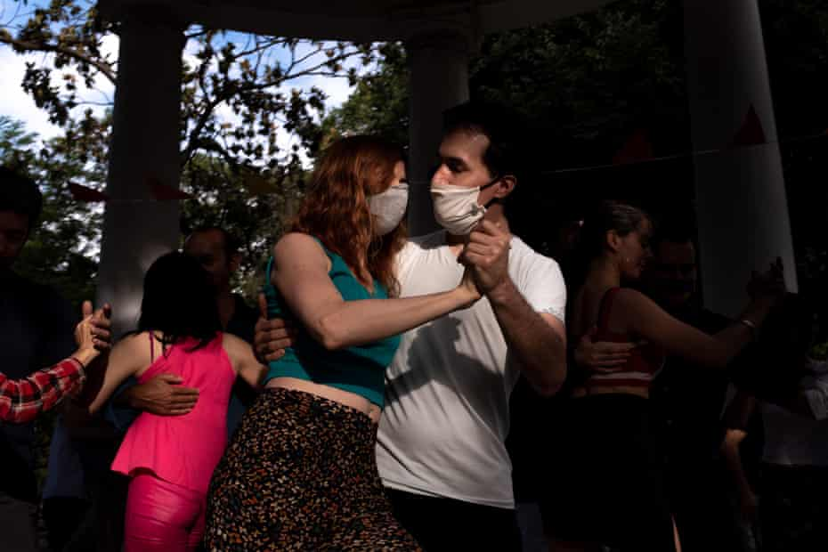 A clandestine milonga organized by a group of friends in Lezama Park, in the middle of the San Telmo and La Boca neighbourhoods, Buenos Aires.