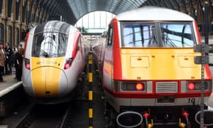 New and old Virgin Trains East Coast rolling stock at King's Cross station in London