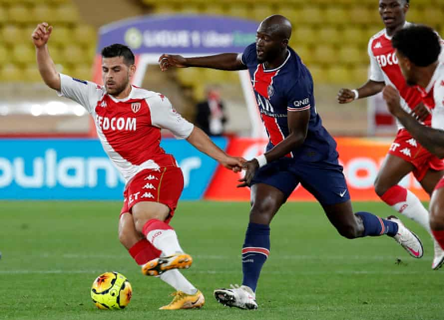 Kevin Volland (left) scored twice for Monaco to start their comeback.