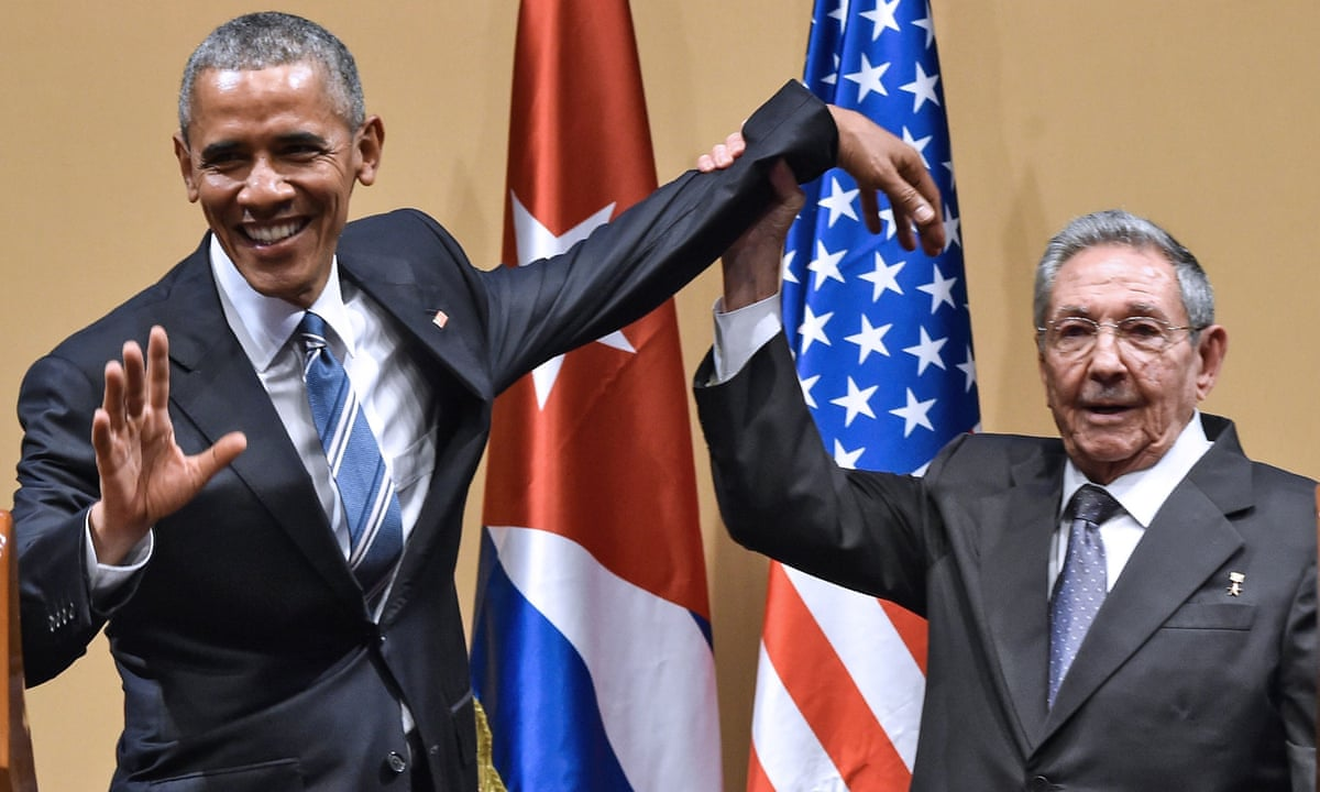 Let's get awkward: how bad was Obama's 'handshake' with Castro? | Politics | The Guardian