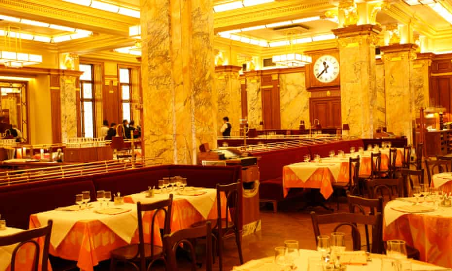 French polish: Brasserie Zedel.