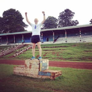 Top of the podium at the famous Kamariny track in Iten, Kenya