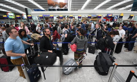 Heathrow airport. The rise in international travel and tourism brings increased risk of tropical diseases.