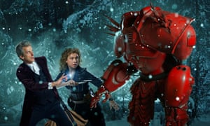 Doctor Who (Peter Capaldi) with River Song (Alex Kingston) and Hydroflax.