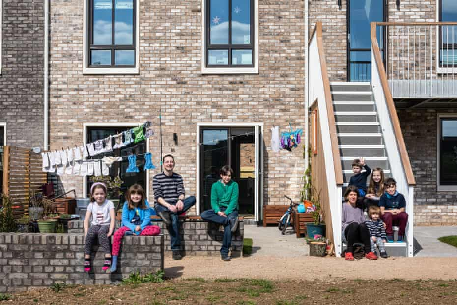 'It's a community, not a commune' … neighbouring families at Marmalade Lane.