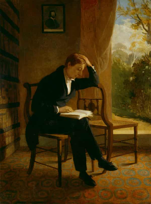 John Keats, dated 1821, by Joseph Severn (1793–1879), in the National Portrait Gallery, London,