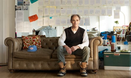 Mark Rylance at the Jerwood Space, London, preparing for his role in Nice Fish at the Harold Pinter theatre.