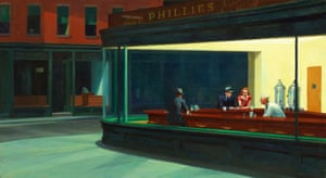 Edward Hopper, Nighthawks, painting, 1942