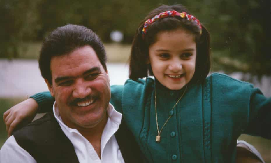 Former president of Afghanistan, Najibullah, with his daughter, Muska, at the presidential palace in Kabul, 1989.