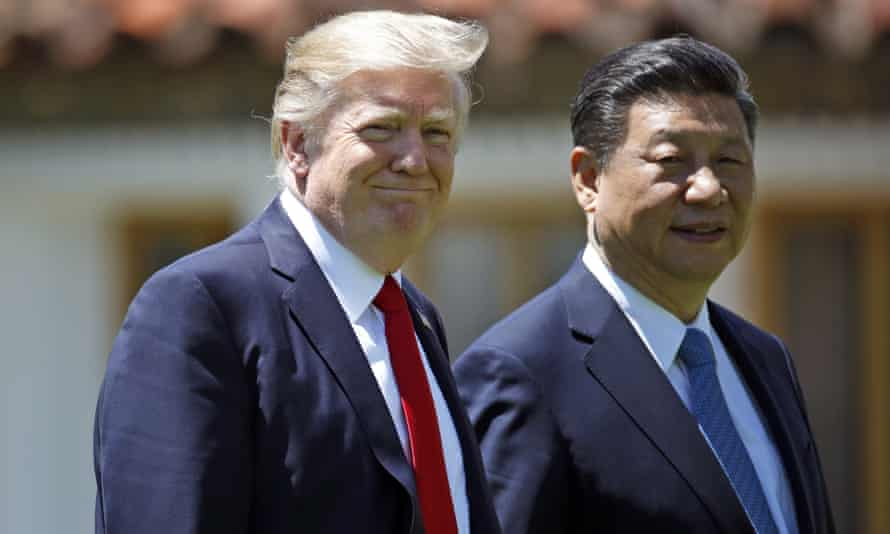 President Donald Trump and Chinese President Xi Jinping at Mar-a-Lago.