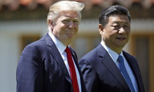 Donald Trump meets the Chinese president, Xi Jinping in Florida in April last year