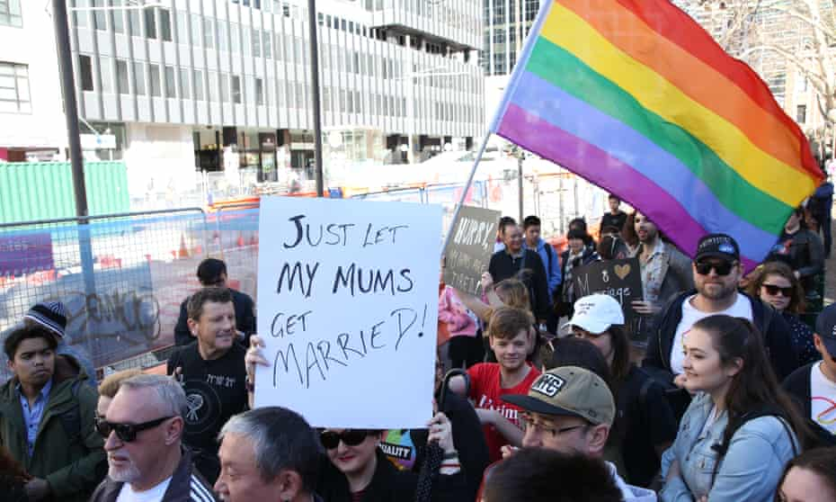 Marriage equality advocated march in Sydney.