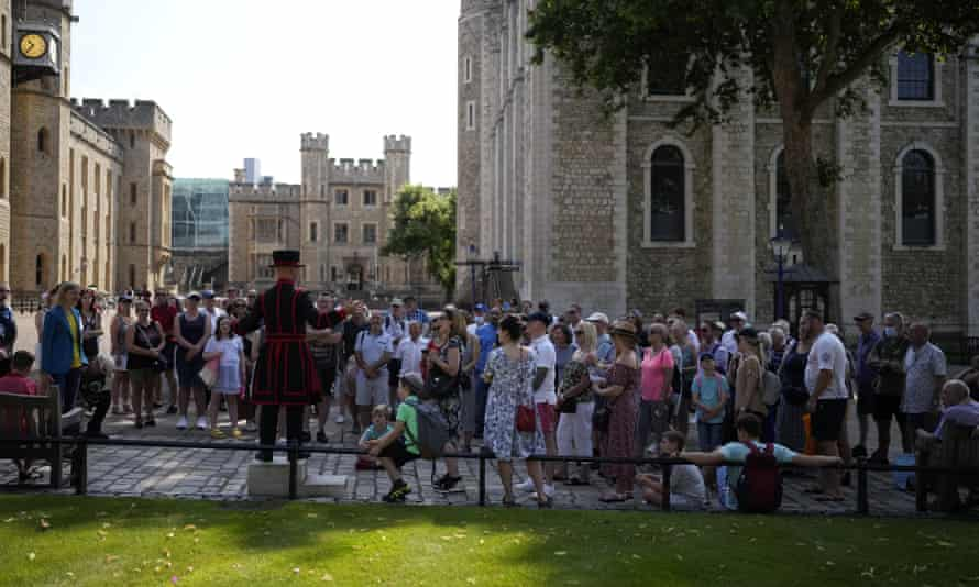 Tourists at the Tower of London