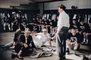 Texas Christian University locker room during the Cotton Bowl, Fort Worth, 1957