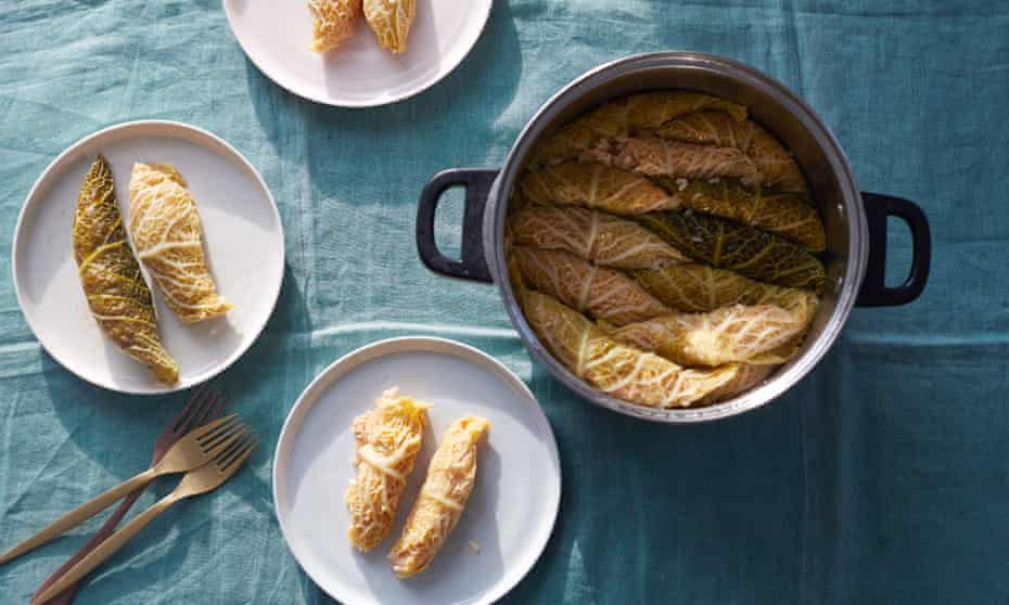 For meat-eaters, beef mince makes a good addition to these dolma.
