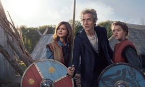 Me and Who's army … Jenna Coleman, Peter Capaldi and Maisie Williams in Doctor Who.