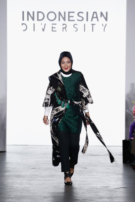 Designer Dian Pelangi in New York.