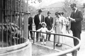 Akihito visits the Ueno Zoo in Tokyo in June 1938