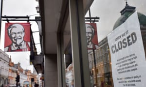 A KFC store in London.