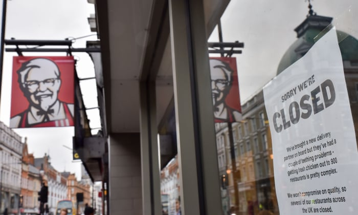 KFC was warned about switching UK delivery contractor, union