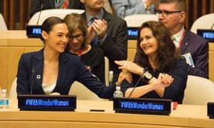 Actors Gal Gadot and Lynda Carter, who have both played the character on screen.