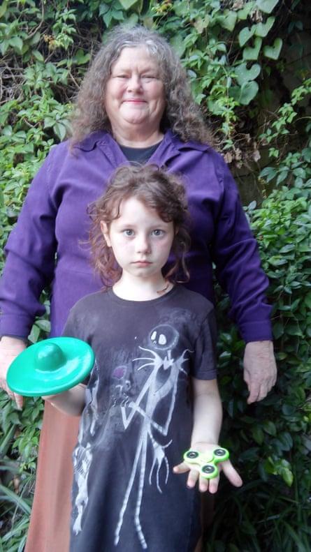 Catherine Hettinger, creator of the fidget spinner, with her granddaughter Chloe.