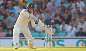 Sam Curran cuts for four during the fifth Ashes Test at the Oval in 2019