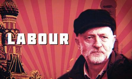 The image of Jeremy Corbyn on Newsnight