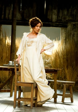 Zoe Wanamaker as Ranevskaya in 2011 at the National Theatre, directed by Howard Davies and designed by Bunny Christie.