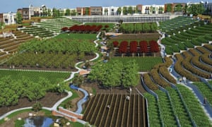 A design of food production in the NewVistas Mormon development, Vermont.