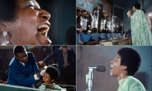 Aretha Franklin, her father the Rev CL Franklin and the Southern California Community Choir in Amazing Grace.