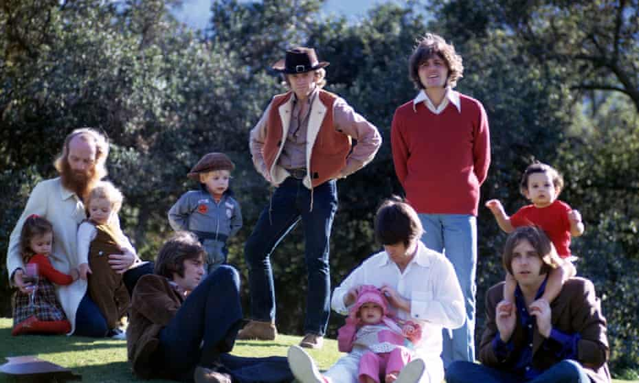 The Beach Boys and children, as seen on the cover of Sunflower in 1970.