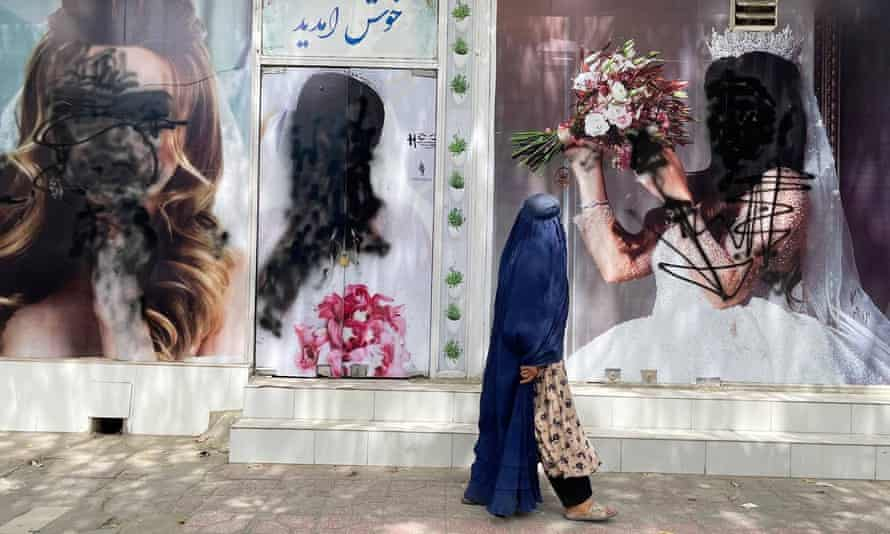 A former beauty salon in Kabul last week.