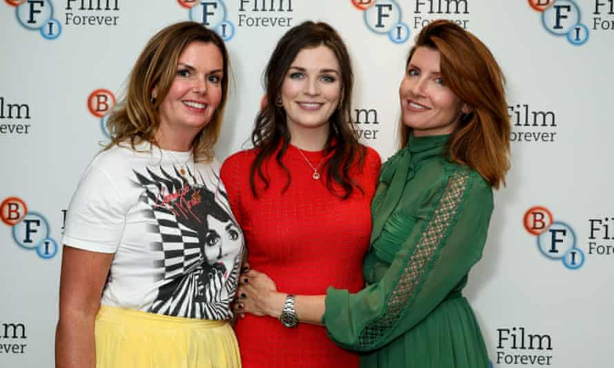 'We're all having these mini-breakdowns, some realisations and then some expansions': with This Way Up co-star Sharon Horgan (right) and producer Clelia Mountford.