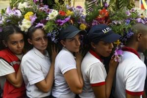 Caracas, ,VenezuelaYoung Catholic faithful take part in the traditional Nazareno of San Pablo procession during Holy Week celebrations.