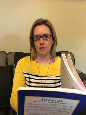 piano teacher claire bowes who lost her sight in the omagh bombing using the myeye to read
