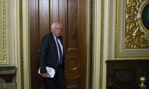 Bernie Sanders on Capitol Hill last month.