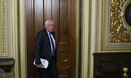 Bernie Sanders on Capitol Hill last month.