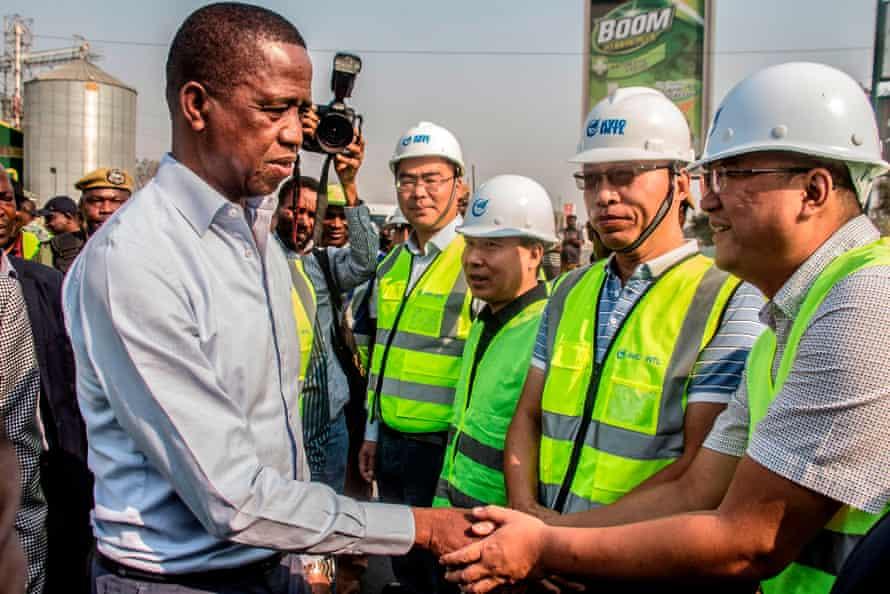 President Edgar Lungu meets Chinese workers