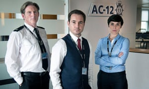 The investigators: Superintendent Ted Hastings (Adrian Dunbar), DS Steve Arnott (Martin Compston) and DI Kate Fleming (Vicky McClure)