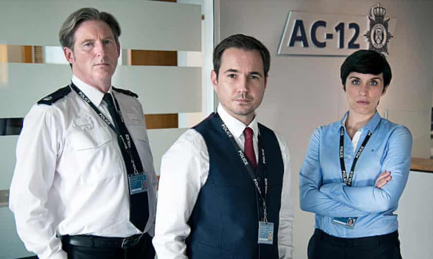 Line of Duty: for the tape, the show stars Adrian Dunbar, Martin Compston and Vicky McClure.