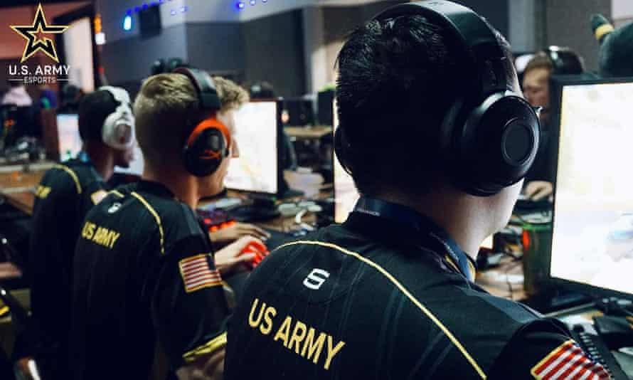 A US army esports team.