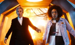 Peter Capaldi as the Doctor with Pearl Mackie as Bill Potts.