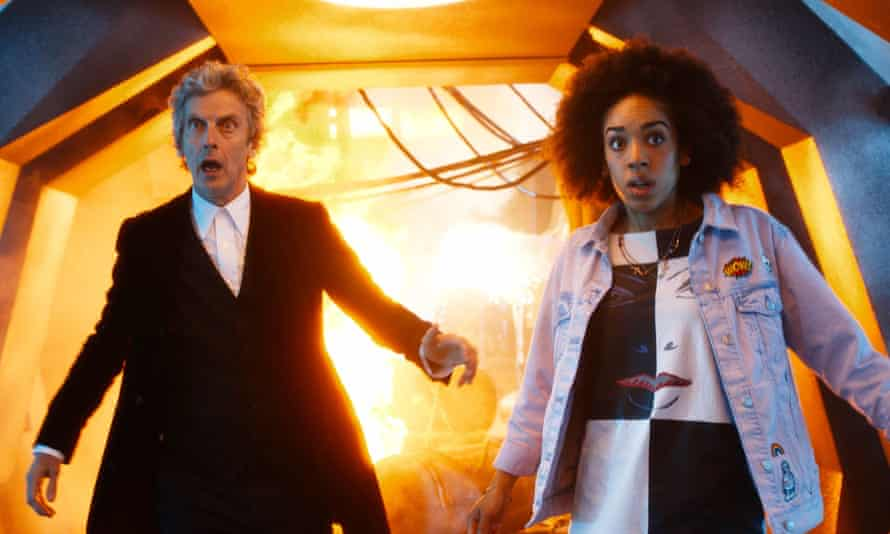 Doctor Who; Peter Capaldi and new friend.