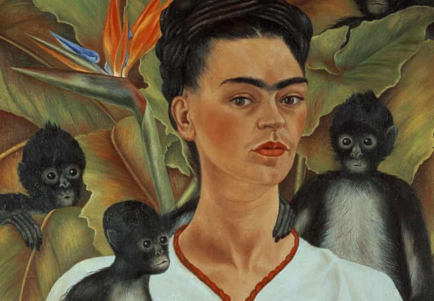 Frida Kahlo's Self-portrait With Monkeys (1943)